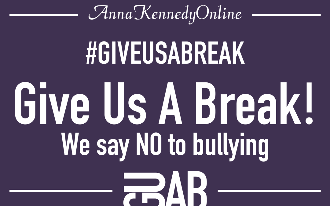 Anna Kennedy Online: Our Give Us A Break campaign – 2018